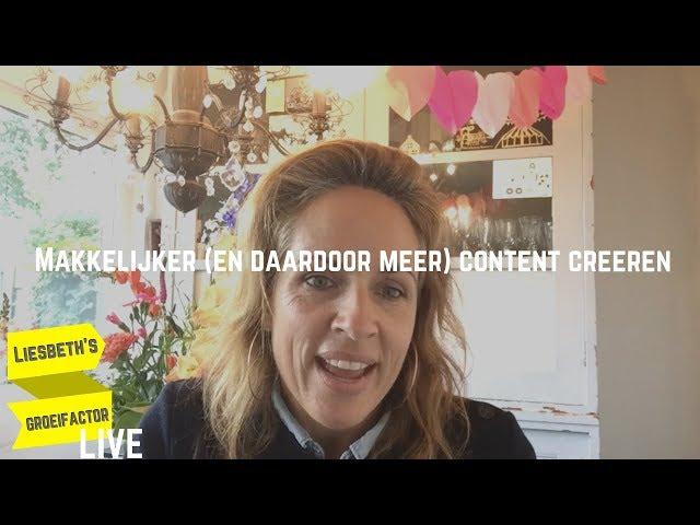 Makkelijker en daardoor meer content creëren | Afl. 9 Liesbeth's Groeifactor LIVE