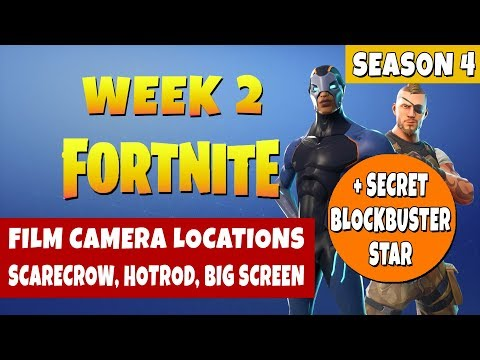 Fortnite Week  Challenges-  All Film Cameras - Scarecrow, Hotrod, Big Screen + Blockbuster Star
