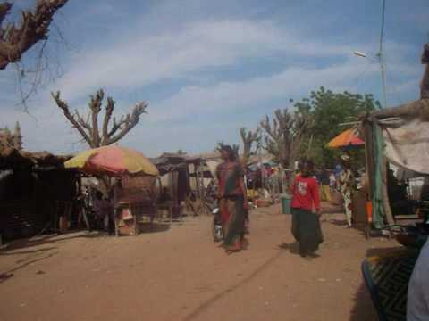 Mali: Street in Front of the Grand Mosque of Djenne