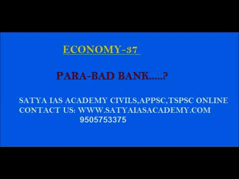 ECONOMY-37NP  (PARA-BAD BANK..?)