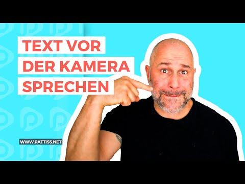 Text vor der Kamera sprechen - so präsentierst du stressfrei