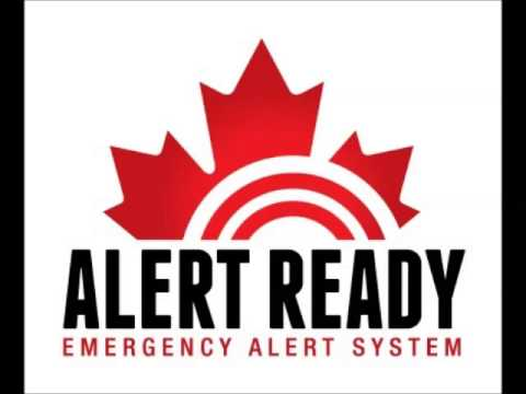 First Test Canadian Alert Ready System (Manitoba)