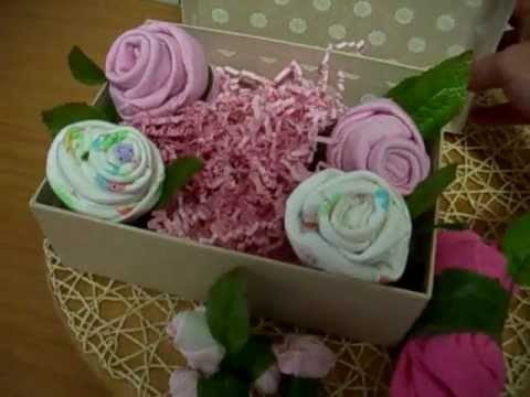 Como hacer flores con ropa de bebe youtube - Www como hacer flores com ...
