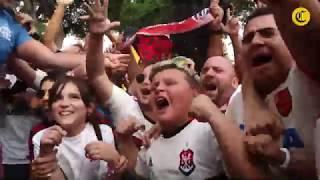 La fiesta de los hinchas de Flamengo y River Plate   El Comercio