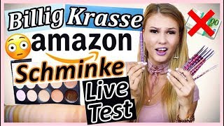 BILLIG AMAZON SCHMINKE im LIVE TEST I Top oder Flop?