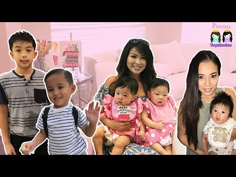 Thumbnail: Princess ToysReview at Twin Baby's First Birthday Party! Family Fun Hide N Seek inflatable water kid