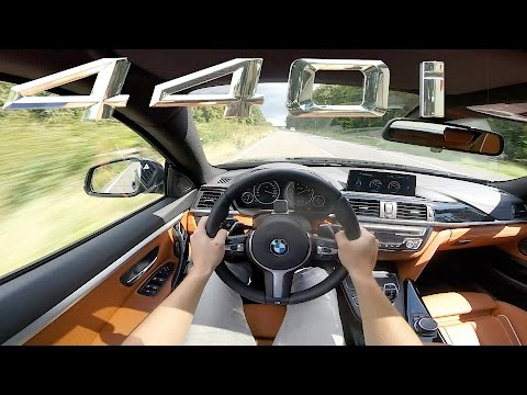 BMW 4 series 2017 440i Gran Coupe Autobahn POV TOP SPEED & ACCELERATION