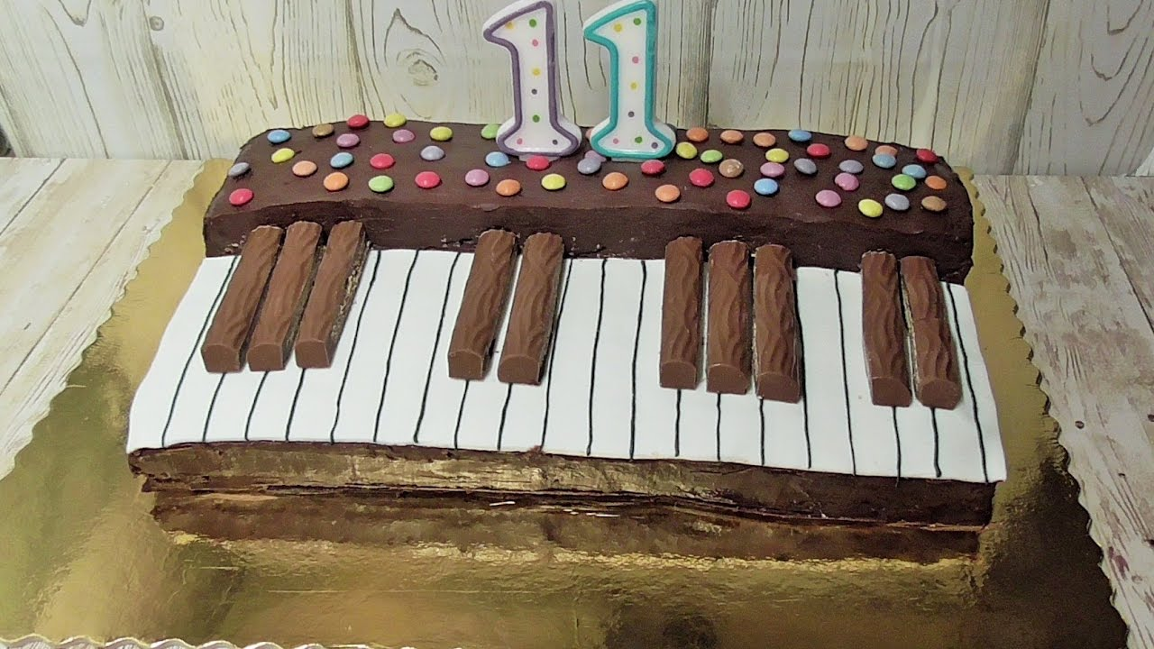 Keyboard Kuchen Piano Torte
