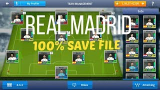 Dream League Soccer 2017 - Real Madrid 100 Power Save File