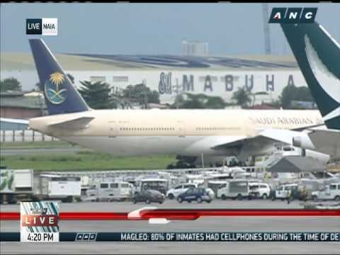 Saudia plane placed in