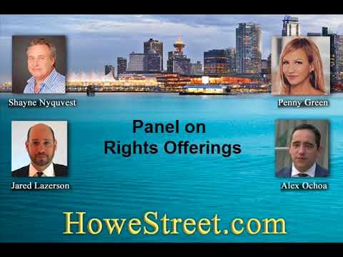 Panel on Rights Offerings. Shayne Nyquvest, Jared Lazerson, Penny Green, Alex Ochoa.
