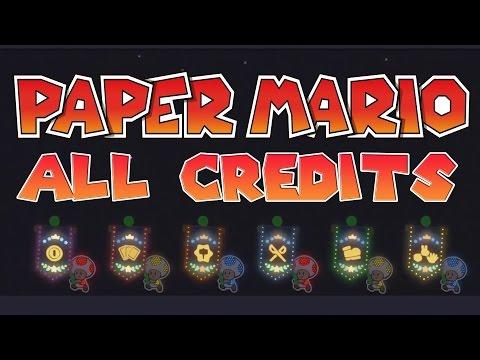 Evolution Of Paper Mario Credits - N64, GCN, Wii, 3DS & Wii U
