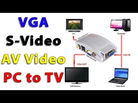 VGA Video Converter. PC to TV