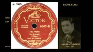 The PALMS . Jean Baptiste  Faure . Mc CORMACK -tenor. disc Victor KVTS 01 1