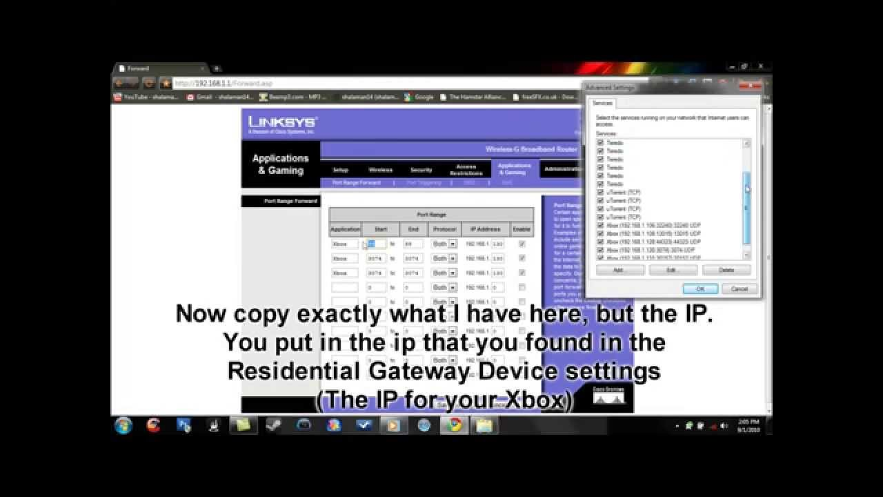 How to open your NAT for Xbox Live [Laptop] (Linksys Routers) HD