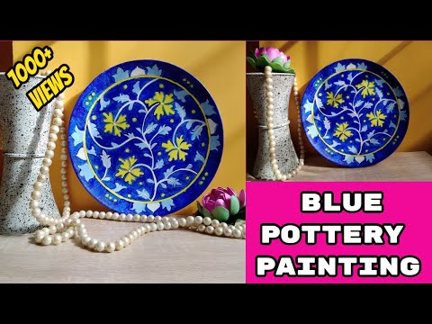 diy-hand-painted-hanging-plate-|-plate-decor-on-wall-|-blue-pottery-painting-|-jaipur-blue-pottery