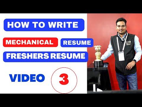 How To Write Resume || Mechanical Fresher Resume || Mechanical Engineer Resume ||