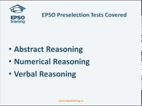 Epso Abstract Numerical Verbal Reasoning Tutorial