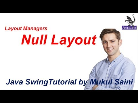 #23 Java Swing Tutorial |Layout Managers Null Layout