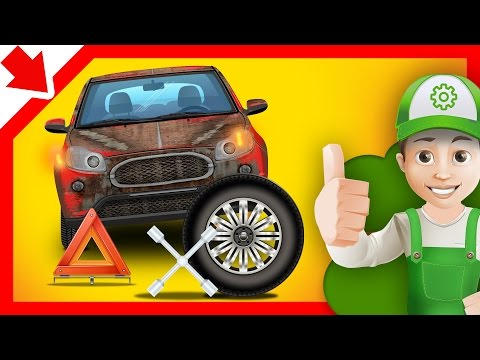 Auto car servicing. Car body shop. Cartoon for kids 5 years old in English Cars for kids video