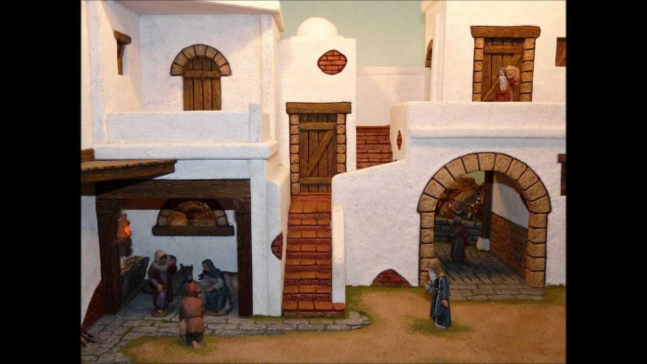 Paso a paso bel n diorama 2009 2 youtube - Casas para belenes hechas a mano ...