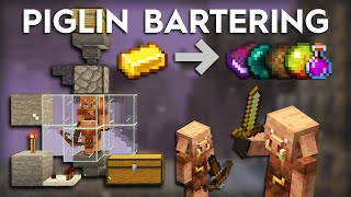Minecraft Easy Piglin Bartering/Trading Farm - 1.16