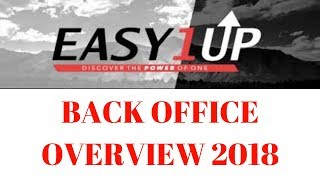 Easy 1up Back office Overview 2018