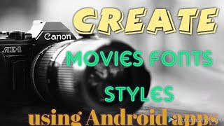 How to Create Names like  Movies Fonts Styles|hacktodo