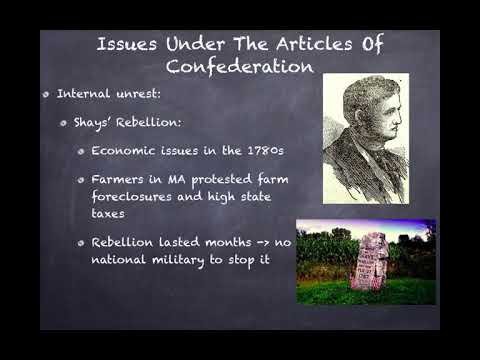 APUSH Review: Video #14: State Constitutions And The Articles Of Confederation