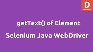 Selenium Java getText( ) retrieve elements Text