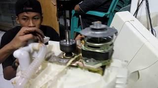 cara servis mesin cuci 1 tabung  bagian pemeras macet