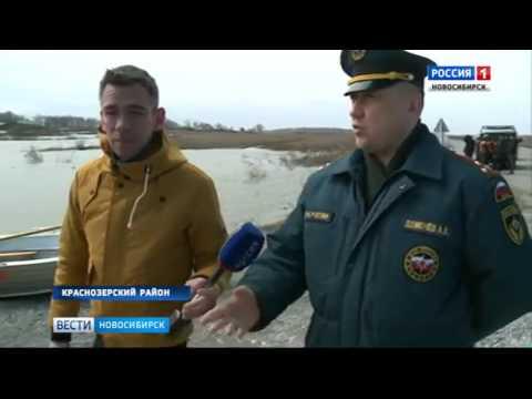 Паводком перемыло дороги в двух районах Новосибирской области