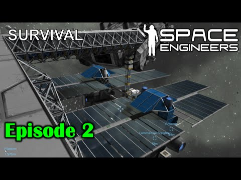Drilling Ships and Scaffolding | Survival 1x02 | Space Engineers