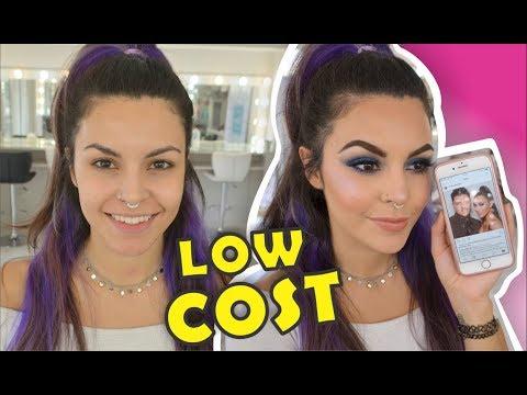 Makeup de KIM pero con productos BARATOS! de 0 a 100 // AZUMAKEUP