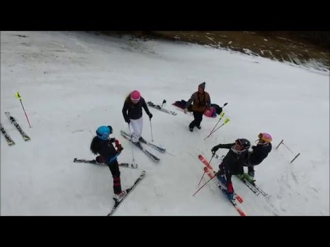 Sbhs alpine ski team cochran's training drone footage