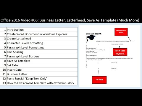 Office 2016 video 06 business letter letterhead save as template office 2016 video 06 business letter letterhead save as template much more accmission Choice Image