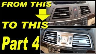 Gambar cover Mercedes E-class W207 facelift analog clock and panel removal and  install. Part 4