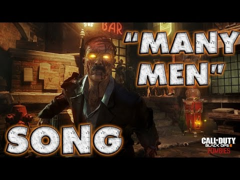 """Black Ops 3 ZOMBIES RAP ♫ """"Many Men"""" 
