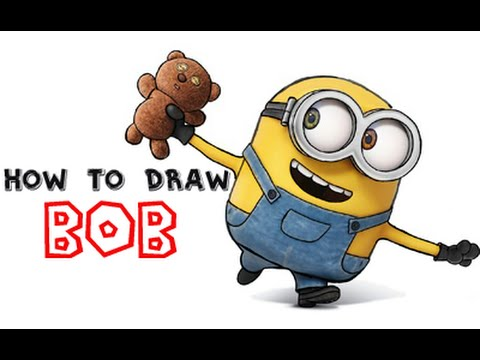 How To Draw Bob The Minion From Minions And Despicable Me