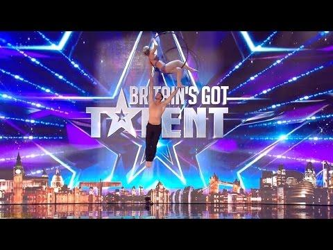 Britain's Got Talent 2016 S10E02 Katy & Paul Aerial Acrobats Full Audition
