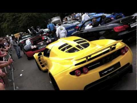 Bugatti Veyron SS & Hennessey Venom GT at 2011 Goodwood FoS