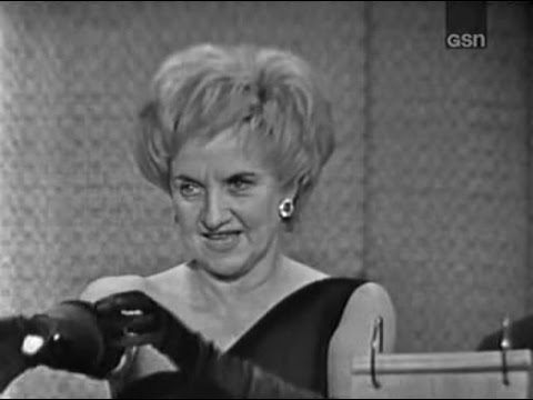 What's My Line?  Hermione Gingold; Tom Poston panel Sep 8, 1963