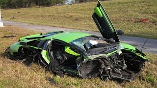 2015 Crazy Lamborghini Ferrari Porsche Jaguar Mclaren Aston Martin Crash  - SuperCar Accident