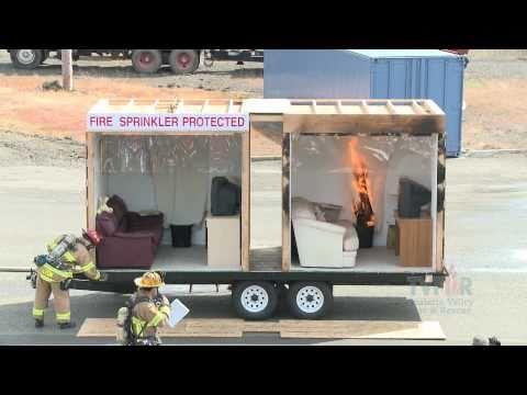 Side by Side Burn - Home Fire Sprinkler System