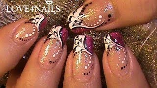 Fast & Easy How To Color Dragging Nail Art Design Tutorial