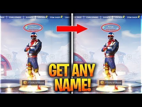 GET ANY NAME YOU WANT IN FORTNITE! - OG Name Tutorial (Fortnite Username Glitch)