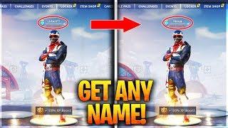 GET ANY NAME YOU WANT IN FORTNITE! - OG Name Tutorial (Fortnite Username Glitch)