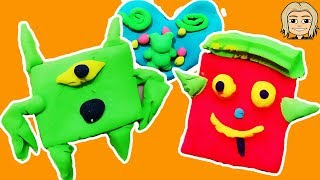 Play Doh Lunchtime Creations Playset OREO Cookie And MONSTER Ice Cream Cookies