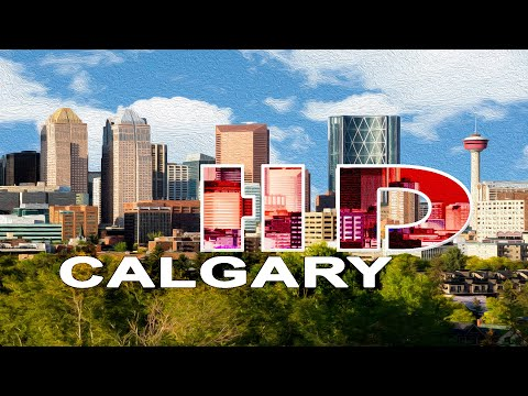 CALGARY , ALBERTA / CANADA - A WALKING TRAVEL TOUR - HD 1080