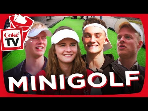 MINIGOLF I AARHUS MED ALEXANDER HUSUM, GEX, MAX MARIUS, OG ANNA BRIAND!   #CokeTVBucketList